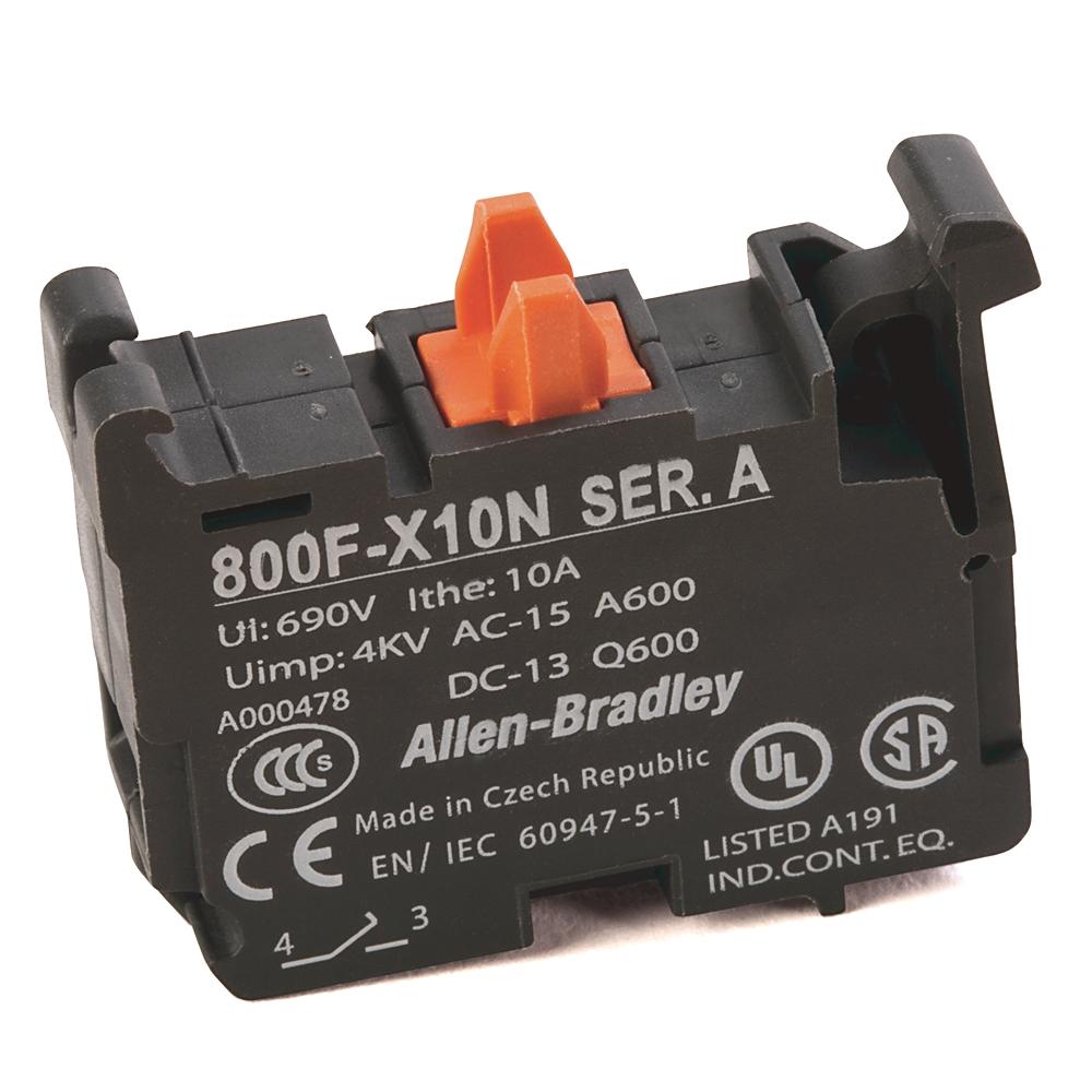 A-B 800F-X10N 22mm Contact Block 800F PB