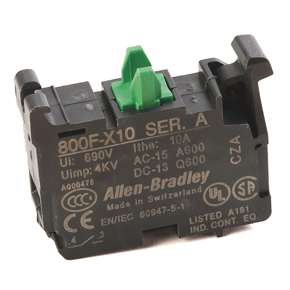 800F-X10 AB 800F NO CONTACT BLOCK LATCH MOUNT SCREW TERMINATION