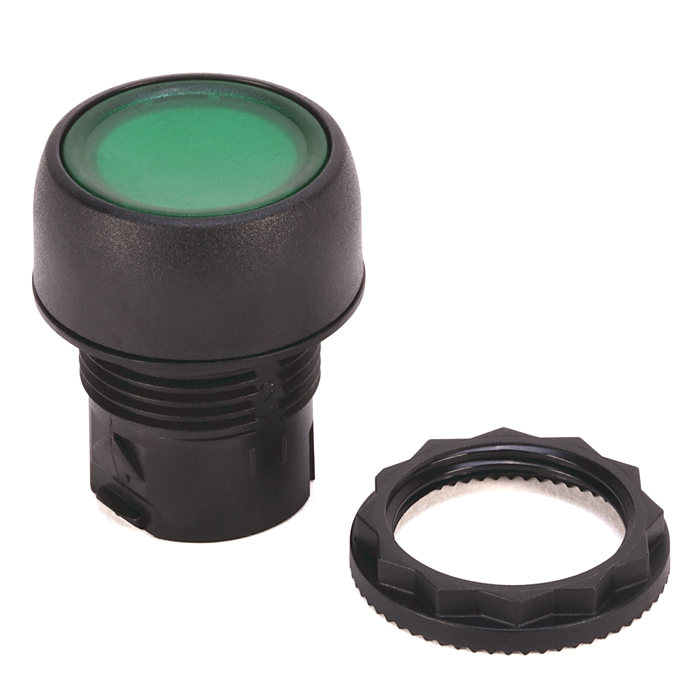 AB 800FP-LFA3 800F Momentary PushButton - Plastic, Illuminated,Flush, Alternate Action, Green,Standard Pack (Qty. 1)
