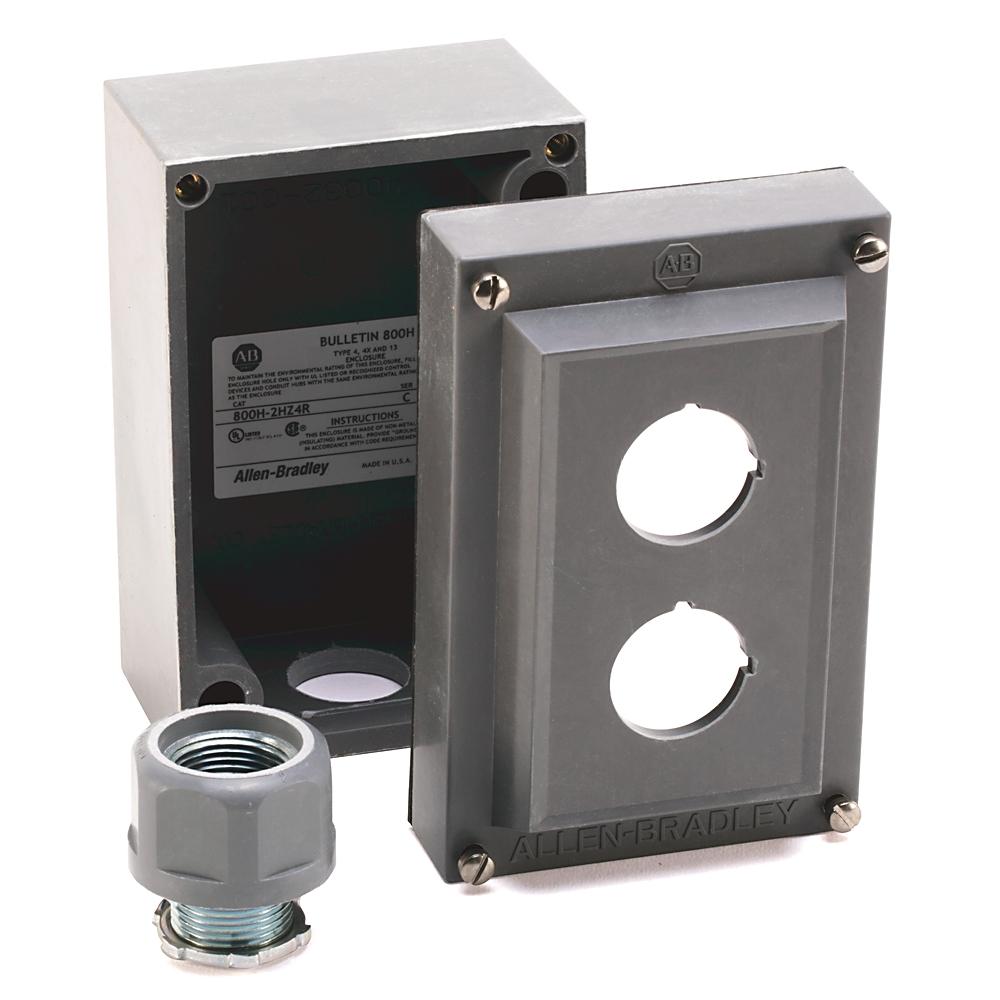 A-B 800H-2HZ4R 30mm Push Button Enclosure 800H PB