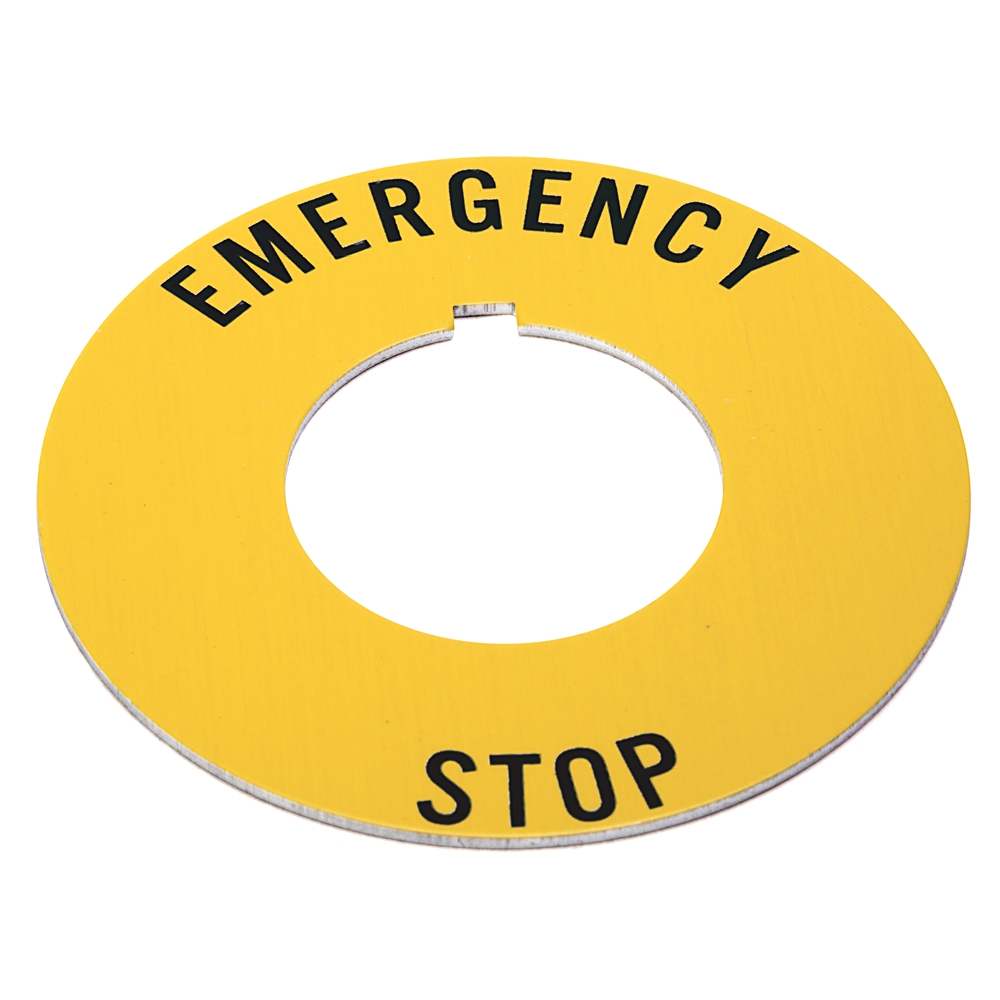 A-B 800T-X646EM 30mm 800T EMERGENCY STOP Yel Ring Legend
