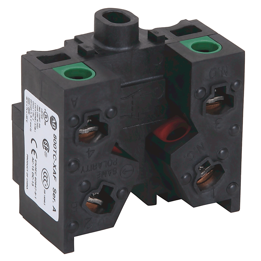 A-B 800TC-XAF 30mm Contact Block 1-NO 1-NC 800T
