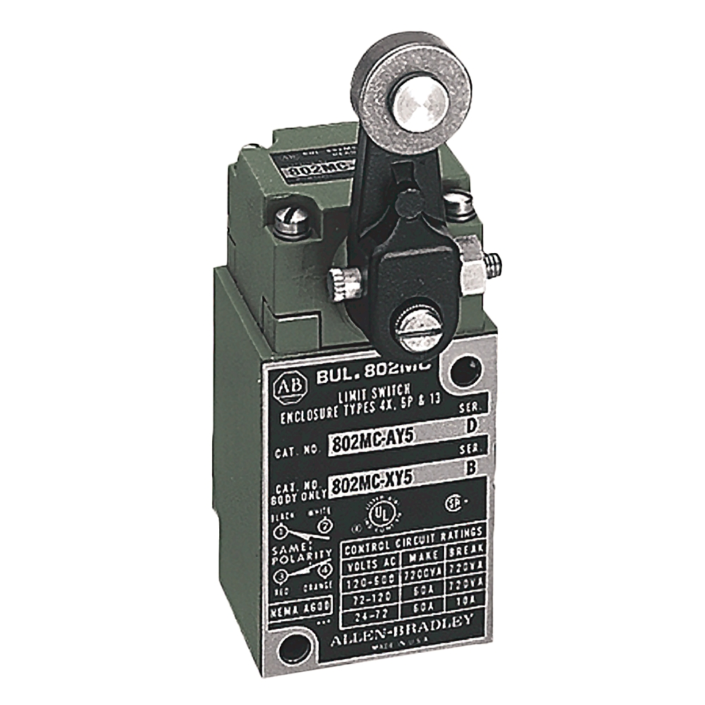 A-B 802MC-A1Y16 Corr-Resist Limit Switch