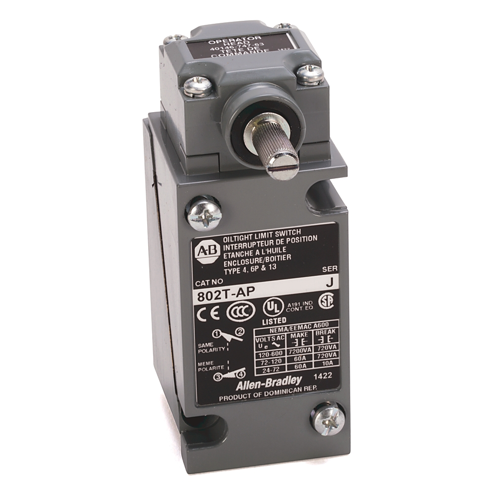 A-B 802T-AP Plug-In Oiltight Limit Switch