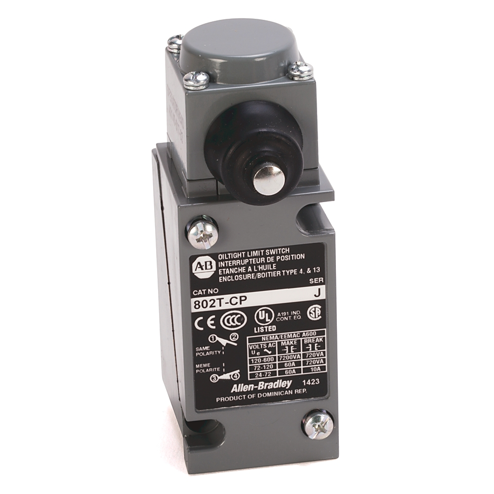 802T-CP AB LIMIT SWITCH PLUG IN SIDE