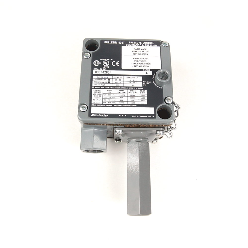 A-B 836T-T262J Electro-Mech Pres Control Switch