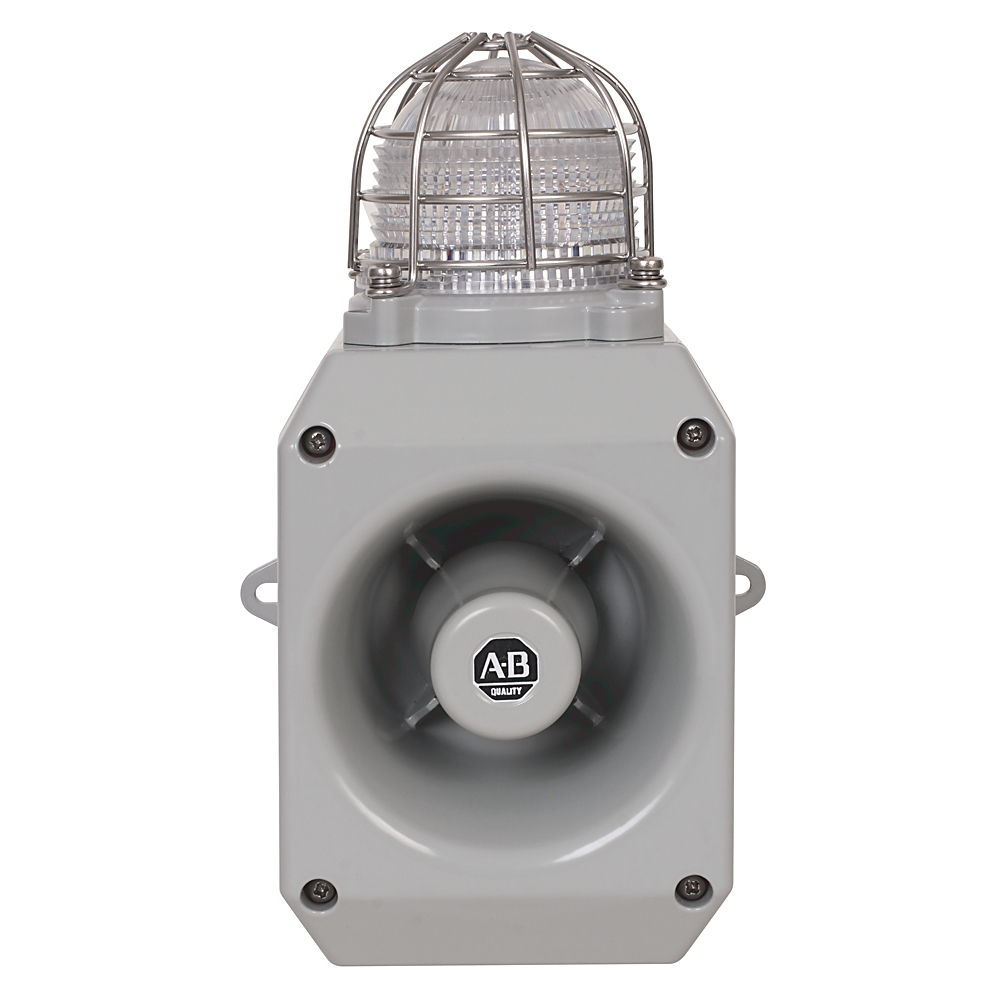 A-B 855HM-CGMA10DL3 Metal Horn with LED Beacon 120V AC