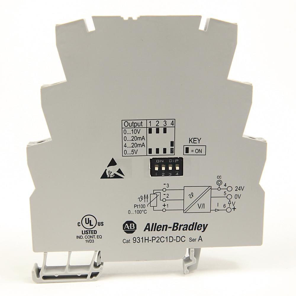 A-B 931H-P2C1D-DC Active PT100-RTD Signal Converter