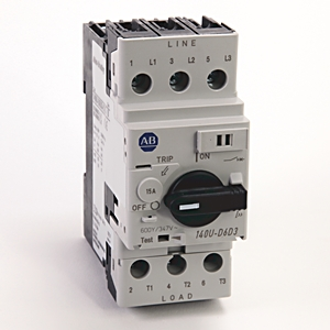 A-B 140U-D6D3-C15 Circuit Breaker 3-Pole 15 A UL 489